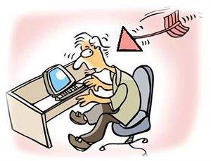 Fletxa a punt de ferir a un internauta